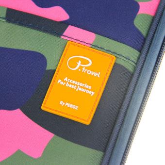 Over 18 Slots & Pockets Passport Wallet Passport HolderOrganiser Travel Wallet Purse Document Organizer iPad Mini TicketBoarding Card Credit ID Card Cash iPhone Storage Case, CamouflageRose Red - intl - 5
