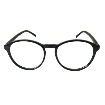 Oxford Eyeglasses Black Frame Clear Lens Sunnies