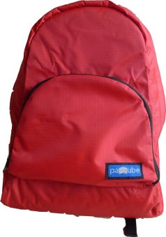 Paccube Lightweight Packable Backpack (Ruby Red)