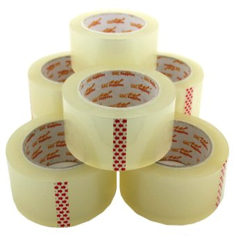 Packaging Tape 2 inches x 100 meters 6 pieces (Clear)