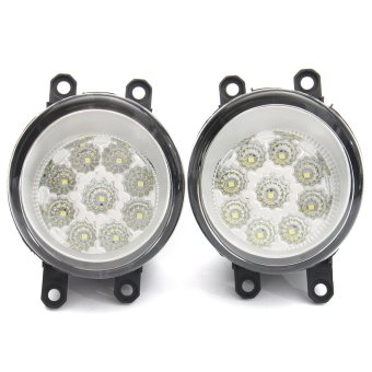 Pair 9 LED Front Driving Fog Light Lamp For Toyota Corolla Camry Yaris Vios RAV4 #8121006071 - intl