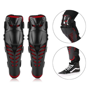 Pair of Motocross Motorcycle Racing Knee Pads Guards ProtectiveGear - intl