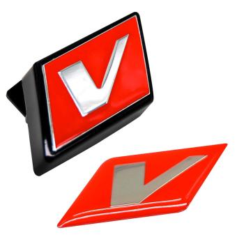 Pair of V Emblem for Honeycomb Grill of Montero Sport 2009-2013