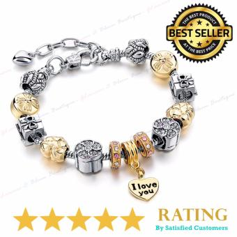 Pandora Inspired - 2017 Charms and Crystal Beads Fashion Bracelet (Pandora Copy) LWY 02