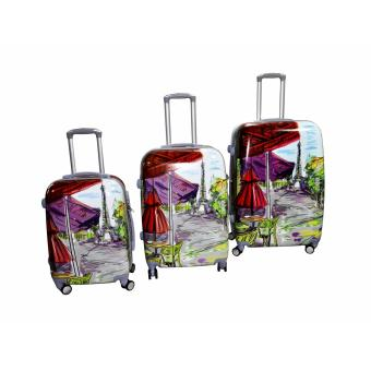 "Paris Sketch Hard Case Travel Luggage F-9061 set of 3 size (20""/24""/28"") Price Philippines"