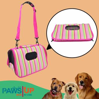 Paws UP Portable Foldable Pet Carrier Travel Bag printed stripesdesign