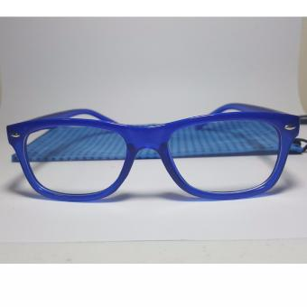 PC TV Anti Radiation And Fatigue Non Fatigue Square Eye Glasses (BLUE)