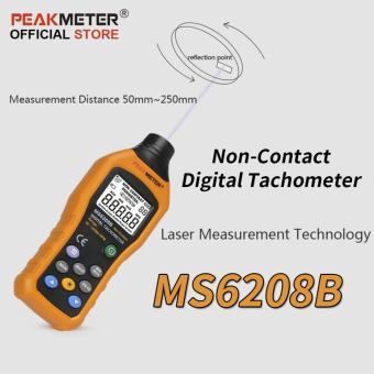 PeakMeter MS6208B Non-Contact Digital Tachometer 50~99999RPM max Speed Meter Rotation Tester