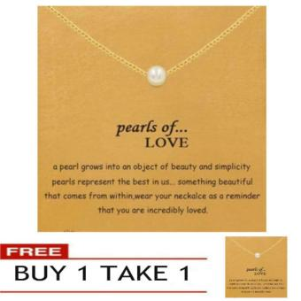 PEARLS OF LOVE pendant necklace gold dipped Buy 1 Take 1
