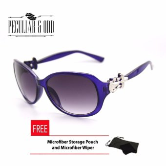 Peculiar Oversized Sunglasses with Vintage Minimalist OS_2629Violet