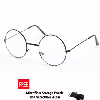 Peculiar's Potter Unisex Full Metal Rim Round Frame Eyeglasses Clear Lens_1500A_Black HP Optical Frame Replaceable Lens - Unisex