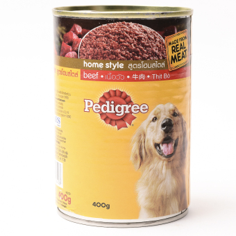 Pedigree Beef Wet Can Dog Food 400g ( 6cans / box)