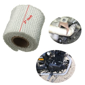 Performance Exhaust Manifold Downpipe Insulating Heat Wrap 2 inch White(INTL)