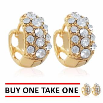 Persian Princess Elise Gold Clip Earrings BUY ONE TAKE ONE