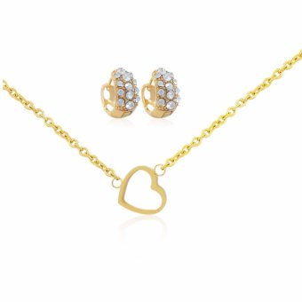 Persian Princess Farah Pure Heart 18K Gold Jewelry Necklace Set