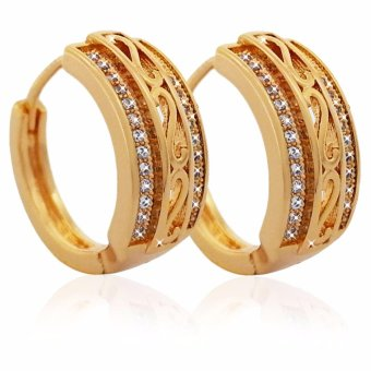 Persian Princess Leticia 18K Clip Earrings With CZ Gemstones (Gold)