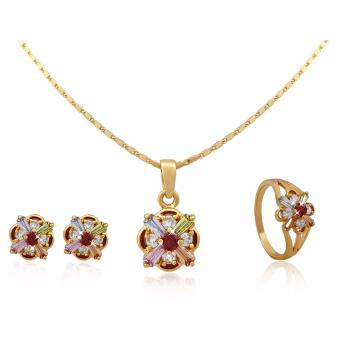Persian Princess Love Necklace Earrings Ring Jewelry Set