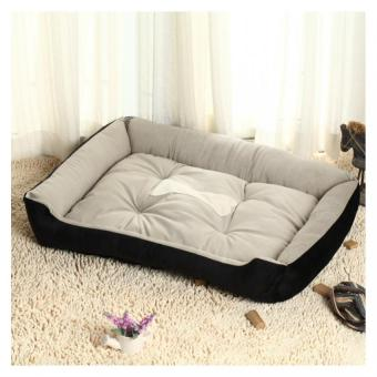 Pet Bed Waterproof Soft Cotton Dog Bed Supplies (Black)
