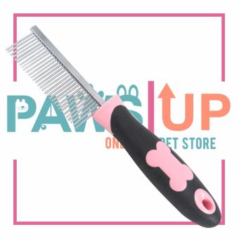 Pet Brush comb stainless steel (Pink)