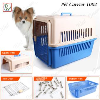 Pet Carrier 1002 Dog Travel Carrier Cage Airline Standard PetHeight Up To 35cm For Small Dog and Cat (Blue)