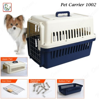 Pet Carrier 1002 Dog Travel Carrier Cage Airline Standard PetHeight Up To 35cm For Small Dog and Cat (Dark Blue)