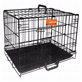 Pet Crates EL-3B Foldable Dog Cage w/ Plastic tray (Black)