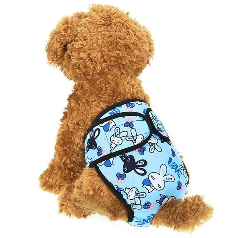 ... Pet Diaper Reusable Breathable Dog Wrap Dog Sanitary Pants forMedium and Large Dogs (blue) ...