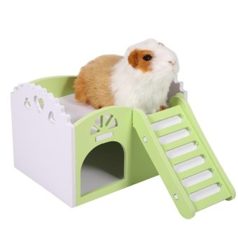 Pet Hamster/Mice Guinea Pig Small Animal Play Castle Sleeping House/Nest(Green) - intl