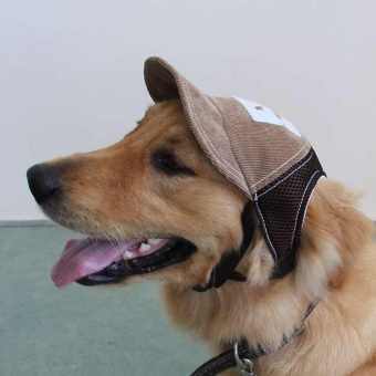 Pet Puppy Dog Cap Baseball Sunhat Adjustable Corduroy Hat Costume (L) - intl