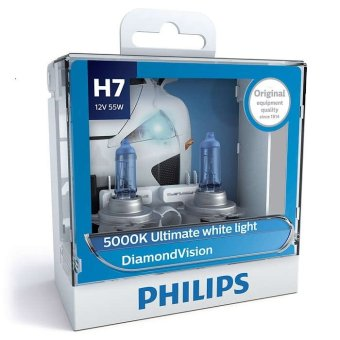 Philips Diamond Vision H7 headlamp replacement bulb - Pair