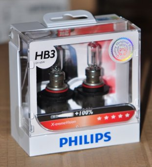 Philips X-treme Vision HB3 +100% Headlamp performance bulb - Set of2