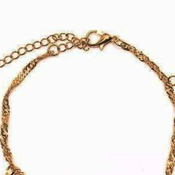 piedras jewelry charmed anklet 18k Gold plated - 2