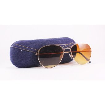 Pilot Aviator -Style Unisex Sunglasses with Free Case- Brown Price Philippines