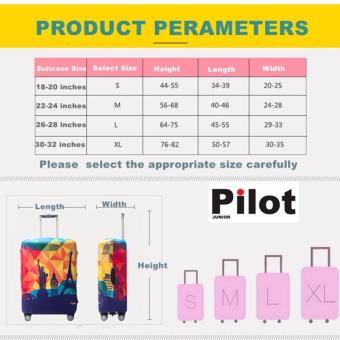 Pilot LC002 Korean Style Travel Accessories 18-20 Inches(S) ElasticCartoon Lovely Luggage Protector Waterproof Spandex Travel SuitcaseCover Trolley Case (Purple Sky)FREE Luggage Tag - 2