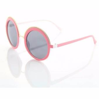 Pink Round Sunglasses Retro Round Women Shades