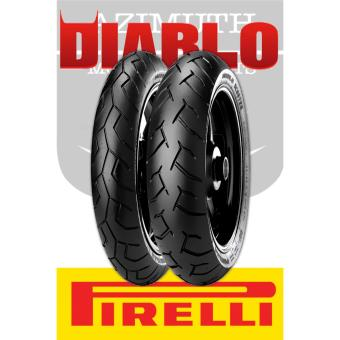 Pirelli Diablo Scooter 2xTires Bundle (Front:70/90-14 34S TL Rear: 80/90-14 40S TL) for Yamaha Mio, Suzuki Skydrive, Kawasaki Curve