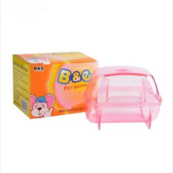 Plastic Pet Hamster Sauna Room Deodorizing Small Animal HamsterSand Bath Room Bathroom Potty 2 Colors - intl