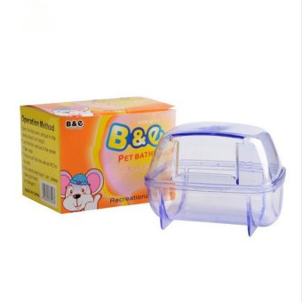 Plastic Pet Hamster Sauna Room Deodorizing Small Animal HamsterSand Bath Room Bathroom Potty 2 Colors - intl - 4
