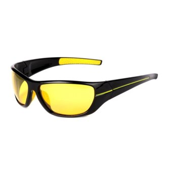 Polarized Night Driving Glasses Men Night Vision Eyewear - intl