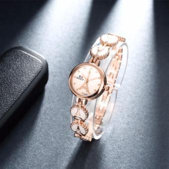 Popcorn WH0021W Paris Casual Quartz Female Women Lady Watch withEiffel Tower Chain Design(White/Rose Gold) - 3