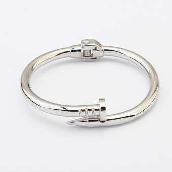 Popular brand European and American men and women steel nail open bracelet