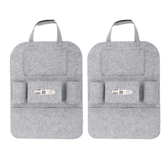 Portable Car Backseat Organizer Set of 2 (Grey)