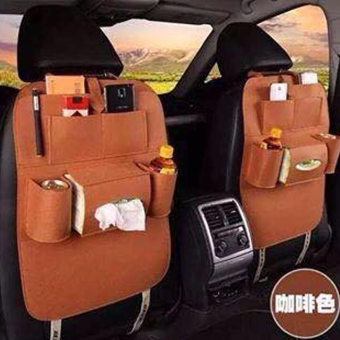 Portable Car Backseat Organizer Set of 2 (Grey) - 5