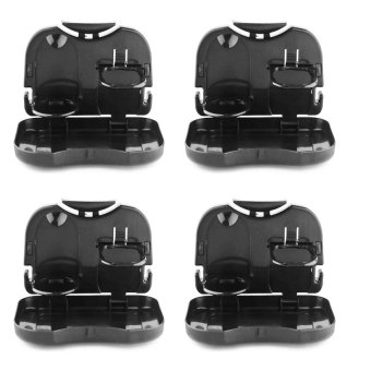 Portable Car Tray and Cup Holder Set of 4 (Black)