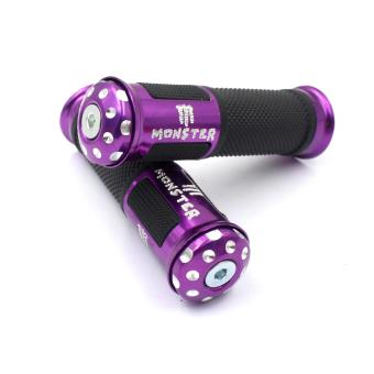 Pradoni Monster Racing Stylish Motorcycle Handle Grip Pair set(Purple) Price Philippines