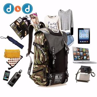 PRINCE TRAVEL101F01 New Outdoor Laptop Bag School Backpack Travel Luggage Camouflage Backpack With USB Charging Port (Camouflage)