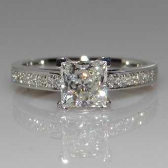 Princess Natural Gemstones White Sapphire Birthstone Bride WeddingEngagement Ring - intl Price Philippines