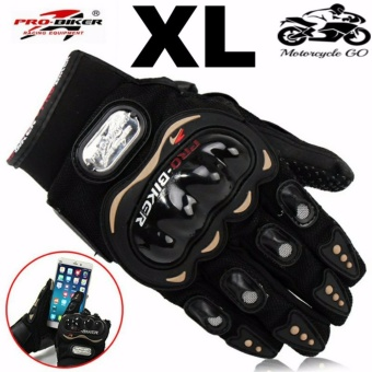 Pro-Biker Carbon Fiber Bike Motorcycle Motorbike Racing Gloves Black (XL)