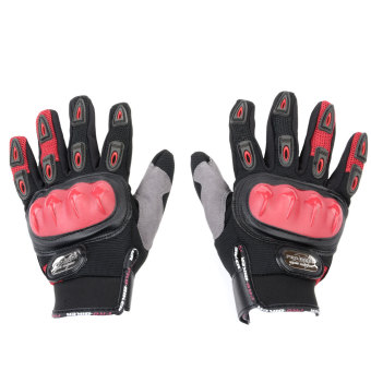 Pro Biker Motorcycle Gloves (Red)