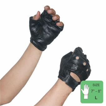 PROCARE PROTECT #1016 Motorbike Gloves 100% Cowhide Leather Pair (Black) SIZE(LARGE)